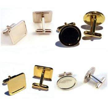 Cufflinks with Clear Domes